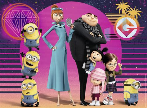 Family Minion 3 family photo despicable me 3 jigsaw puzzle