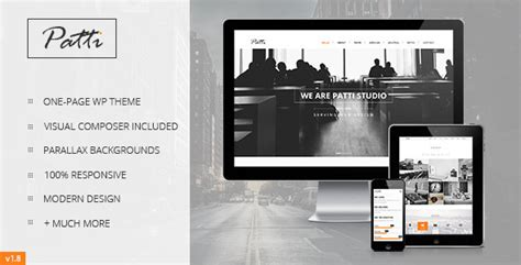 themeforest pages patti parallax one page themeforest wordpress theme v1 7