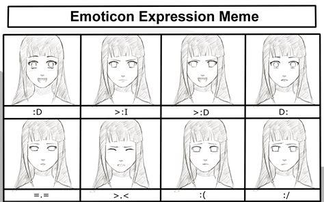 Emoticon Meme - emoticon expression meme hinata by toshalg on deviantart