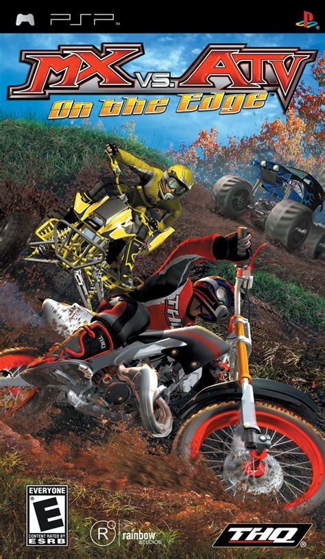 motocross vs atv mx vs atv unleashed on the edge box shot for psp gamefaqs