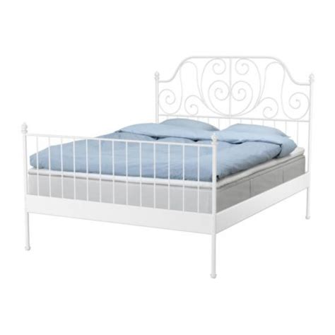 Ikea Mattress Base With Storage Leirvik Bed Frame With Slatted Bed Base Ikea Space