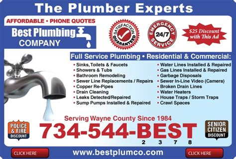 Ad Plumbing Services Find Livonia Plumbers Plumber Livonia Mi