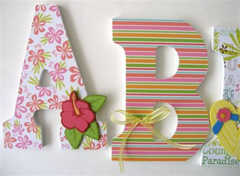 Decorated Wooden Letters For Nursery 17 Best Ideas About Hawaiian Theme Bedrooms On Themed Rooms Themed