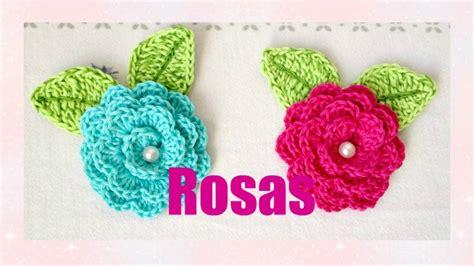 como hacer flores de crochet c 243 mo hacer rosas a crochet youtube