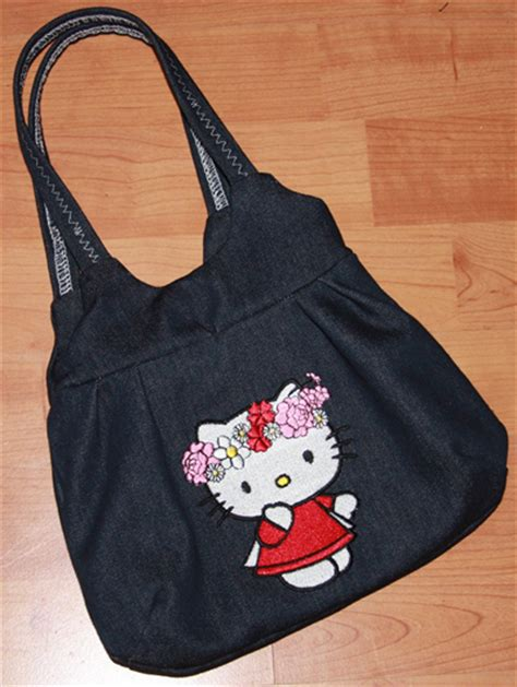 bags   kitty machine embroidery design