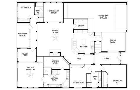 ranch home floor plans 4 bedroom small 4 bedroom ranch house plans