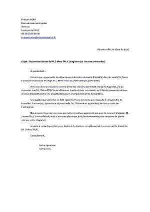 lettre de recommandation pour une th 232 se contrat de