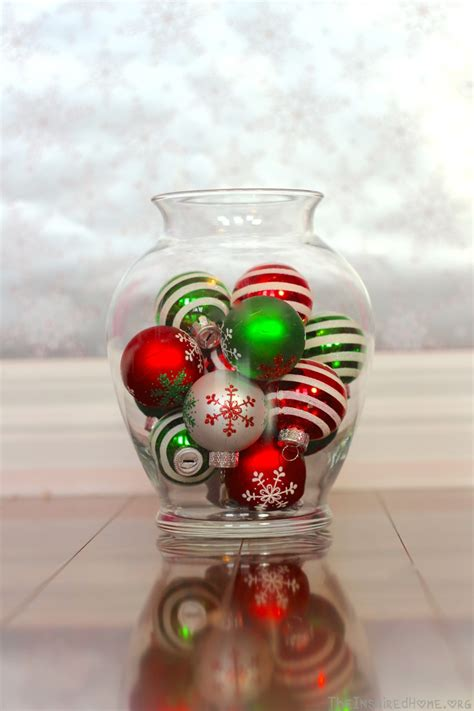 christmas decoration vase holliday decorations