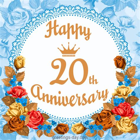 20th Anniversary Wedding by Happy 20th Anniversary Free Greetings And Wishes