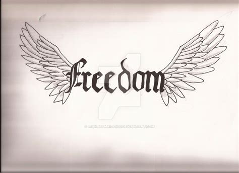 freedom tattoo design freedom by ironbatmaiden91 on deviantart