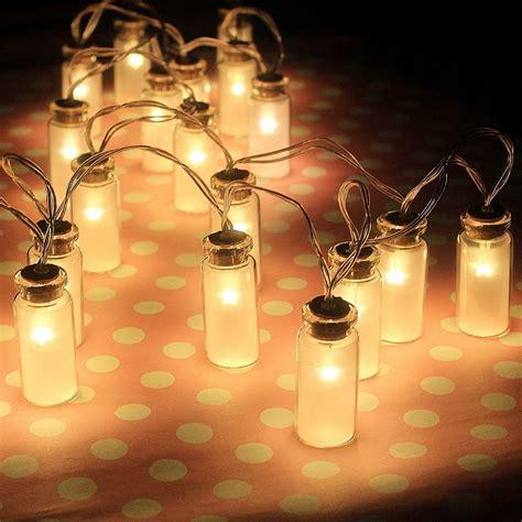 warm white indoor fairy lights 20led vintage glass jar garden ambiance fairy lights warm