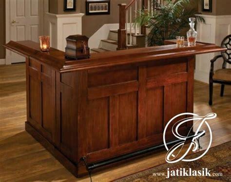 Meja Sudut Kayu jual meja bar sudut minimalis terbaru kayu jati jati klasik