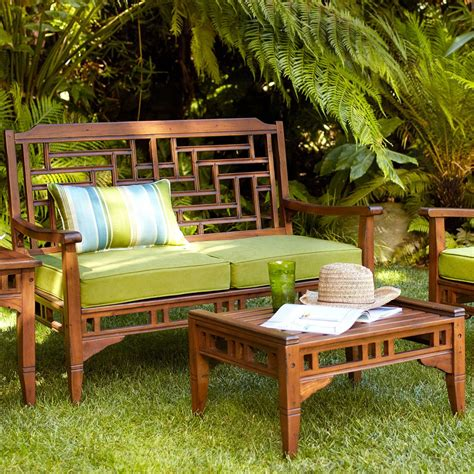 Oak Patio Furniture Theme Outdoor Design With Frontgate Wooden Patio