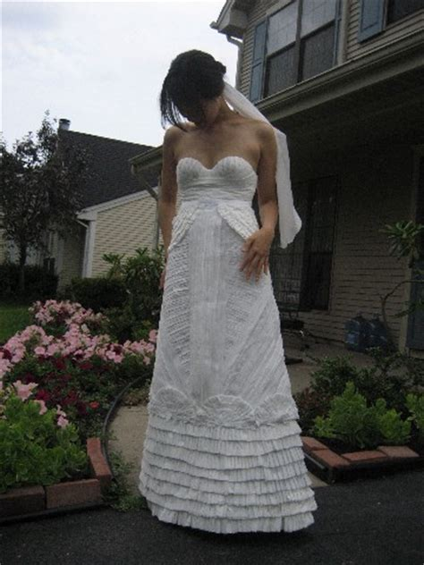 How To Make Toilet Paper Dress - toilet paper wedding dress contest