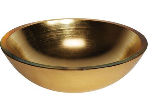 Aufsatzwaschbecken Rund 20 by Glaswaschbecken Aufsatzwaschbecken Lineabeta Gold 42 Cm