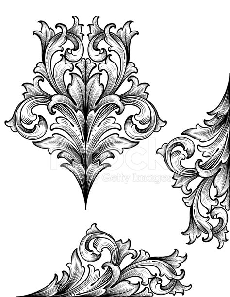 acanthus edge scrollwork stock vector freeimages com