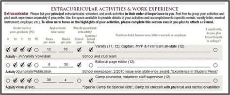 common app honors section common app how many activities should i really list us