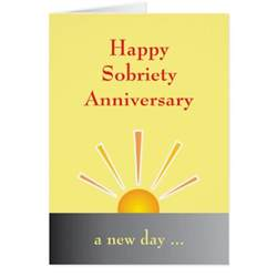 sobriety anniversary cards sobriety anniversary card templates postage invitations