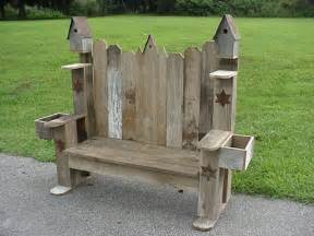 Handmade Wooden Garden Benches - 54 best images about birdhouse fence on