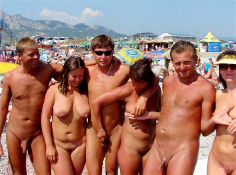 Nude Group Playing With Each Other On The Beach Nudeshots