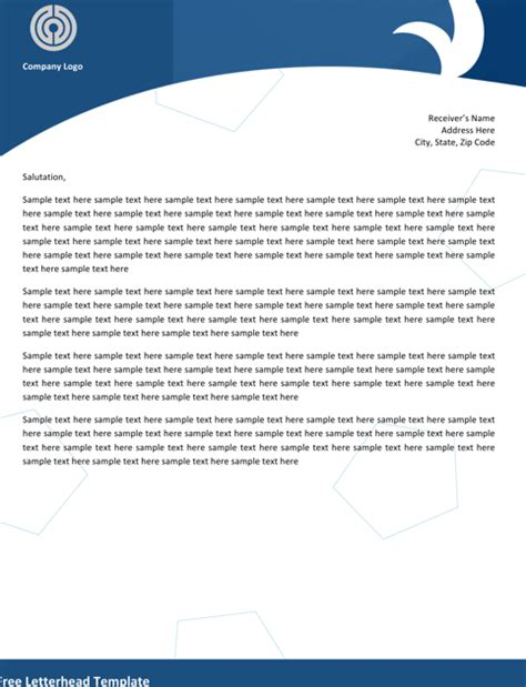 free letterhead templates for word 2007 word letterhead templates for free formtemplate