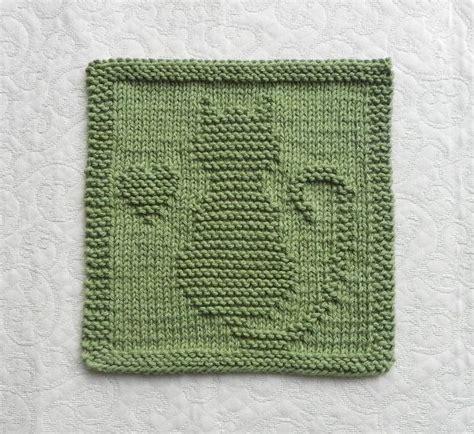 knitting pattern cat dishcloth cat kitten heart knit dishcloth hand knitted unique
