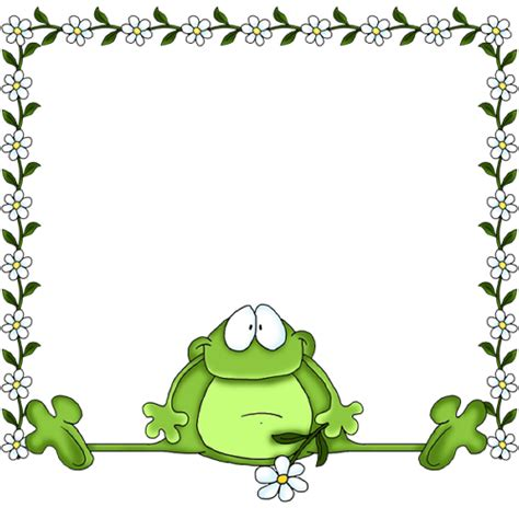 frog border writing paper frog paper design clipart backgrounds
