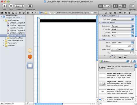 xcode object layout creating an interactive ios 4 ipad app xcode 4 techotopia