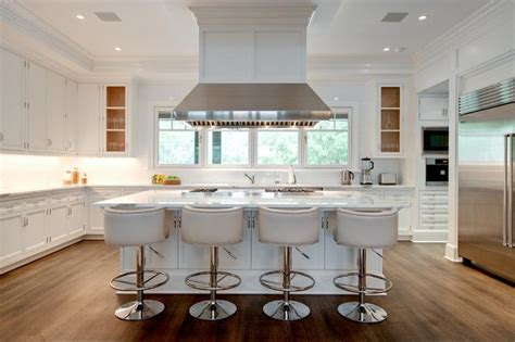 white kitchen island with stools island with white leather barrel back counter stools