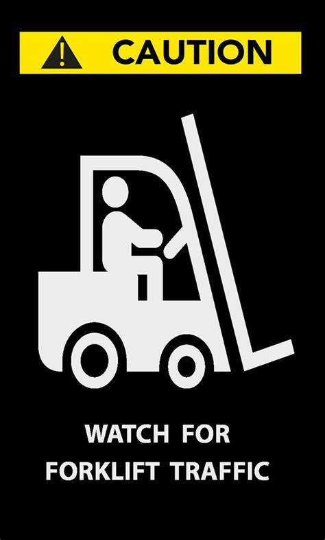 Watch for Forklift Entrance Safety Message Mat