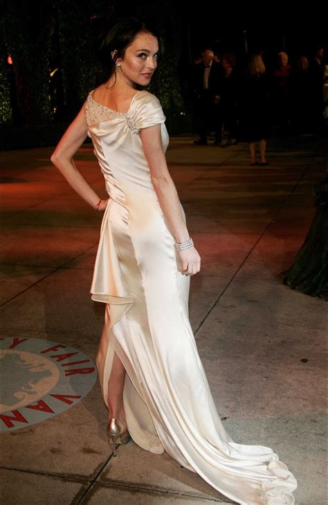 carpet dresses lindsay lohan vanity fair oscar