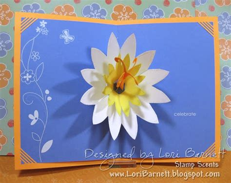 Lotus Flower Pop Up Card Template Free by St Scents Pop Up Lotus