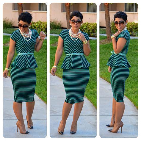 diy striped peplum top skirt pattern review m6754 view