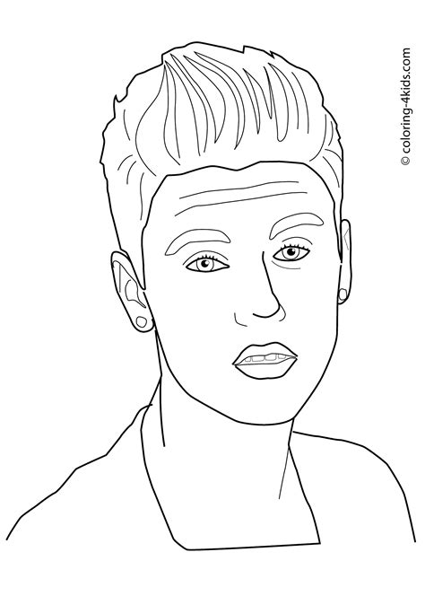 justin bieber coloring pages coloring pages pinterest
