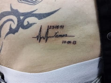 heartbeat line tattoo katdemon ink and piercing studio cardiff lip