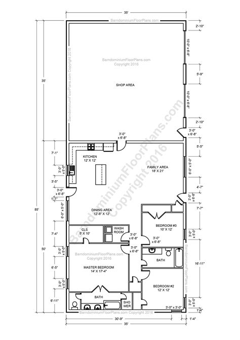 2 Story Garage Plans by Barndominium Floor Plans For Planning Your Barndominium