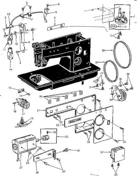kenmore sewing machine parts diagram kenmore sewing machine feed regulator assembly parts