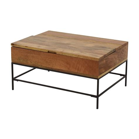 west elm alexa coffee table 63 off west elm west elm industrial storage coffee