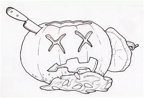 pumpkin drawings for pumpkin doodle a day