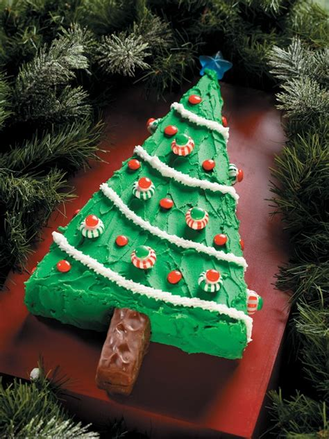 a piece of cake christmas tree cake
