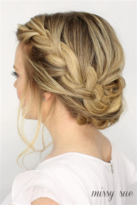 braid updo hairstyles fancy braid updo