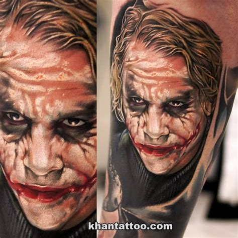 tattoo pics of the joker 30 awesome heath ledger joker tattoos