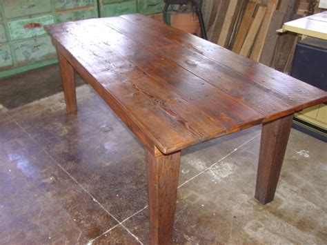 how to taper 4x4 table legs primitivefolks rustic pine farm tables country harvest