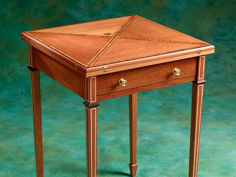 project envelope game table woodworking blog