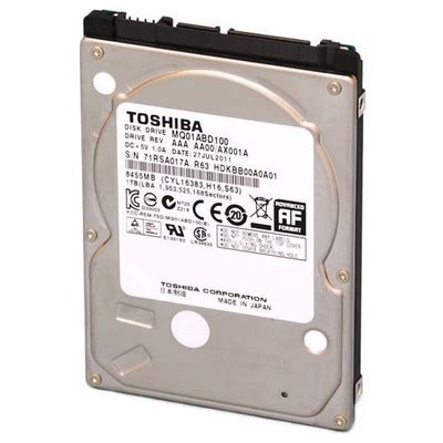 Harddisk Toshiba Notebook 500gb toshiba 500gb notebook disk mq01abf050