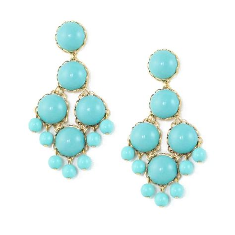 Turquoise Chandelier Earrings Loren Dabney Large Chandelier Earrings Turquoise In