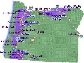map of oregon wine country go northwest a travel guide