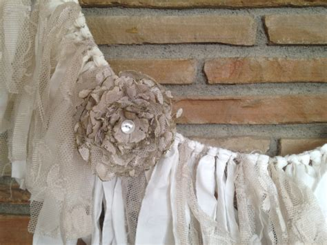 rustic wedding garland shabby chic decor by denadanielledesigns