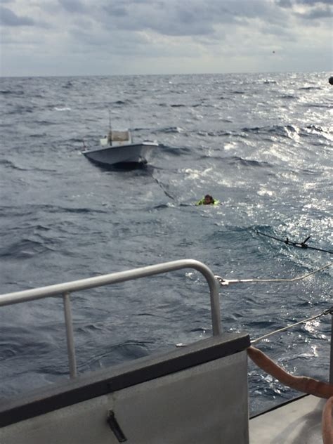 sinking boat florida joint rescue saves boaters from sinking off haulover 171 cbs