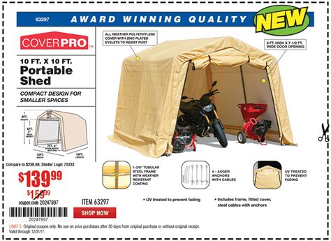 Tool Shed Discount Code by Harbor Freight Tools Coupon Database Free Coupons 25 Percent Coupons Toolbox Coupons